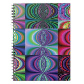 Variaciones del remolino del multicolor libretas espirales