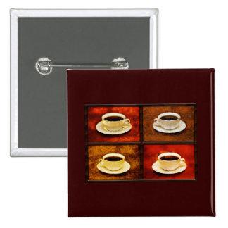 Variaciones en una taza de café -4 diversos estilo pins