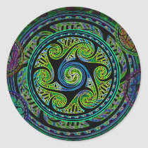 Variated Spheres Vibrant Celtic Knot