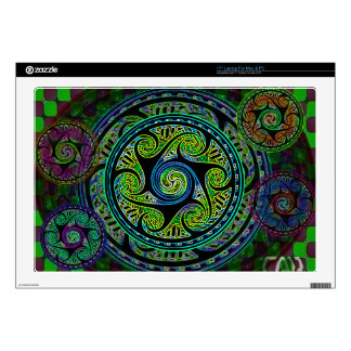 """Variated Spheres Vibrant Celtic Knot Decals For 17"""" Laptops"""