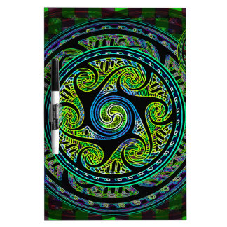 Variated Spheres Vibrant Celtic Knot Dry-Erase Board
