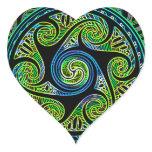 Variated Spheres Vibrant Celtic Knot Heart Sticker