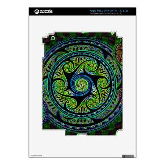 Variated Spheres Vibrant Celtic Knot iPad 3 Skin