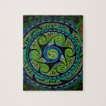 Variated Spheres Vibrant Celtic Knot Jigsaw Puzzle