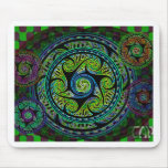 Variated Spheres Vibrant Celtic Knot Mouse Pad