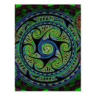 Variated Spheres Vibrant Celtic Knot Postcard
