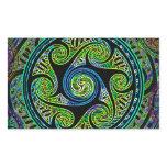 Variated Spheres Vibrant Celtic Knot Rectangular Sticker
