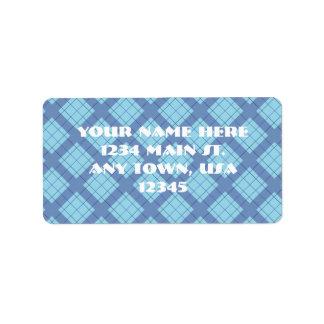 Variation Blue Plaid Label