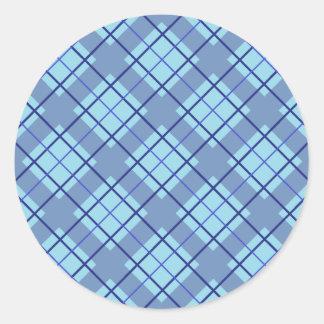 Variation Blue Plaid Sticker
