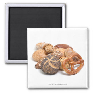 variation of baked goods 2 inch square magnet