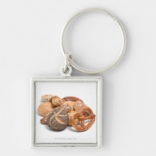 variation of baked goods key chains