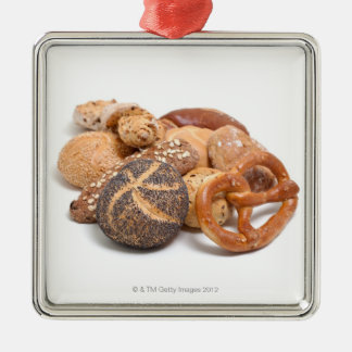 variation of baked goods metal ornament