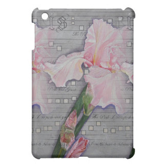 Variation of Pink Iris Manuscript Cover For The iPad Mini