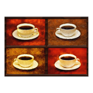 Variations on a Cup of Coffee -4 Different Styles Card