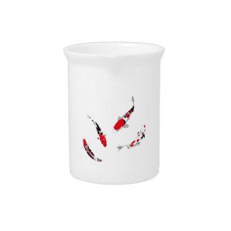 Varicolored carps beverage pitcher
