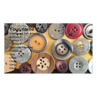 varied button design business card
