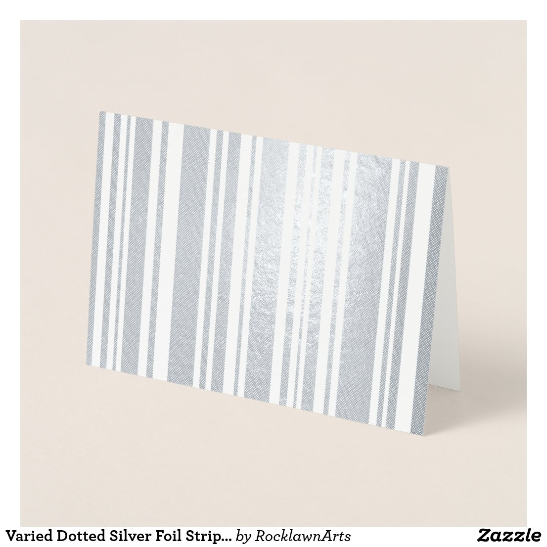 Varied Dotted Silver Foil Stripes Foil Card