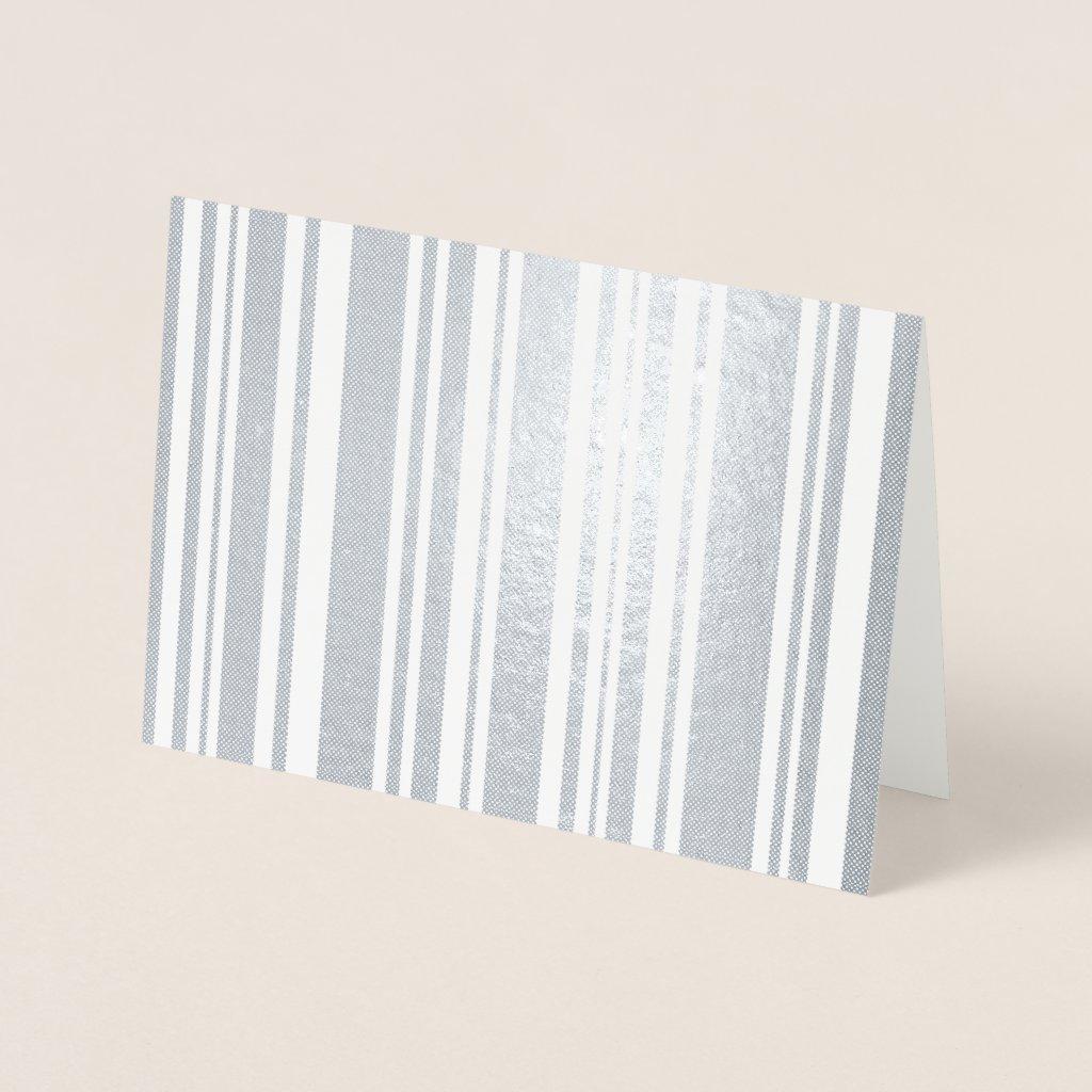 Varied Dotted Silver Foil Stripes Foil Card