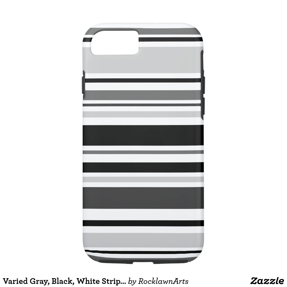 Varied Gray, Black, White Stripes iPhone 7 Case