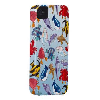 Variedad colorida de pescados iPhone 4 protectores