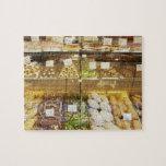 Variedad de galletas en vitrina rompecabeza con fotos