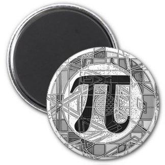 Variedad de rondas de los símbolos del día del pi iman