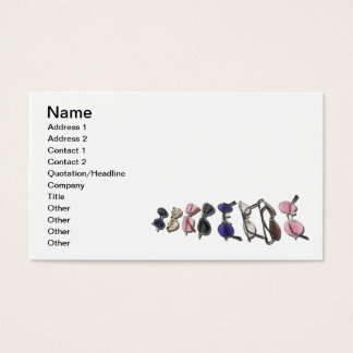 Variedad de vidrios coloridos tarjetas de visita