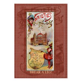 Variedades y etiqueta del regalo de las novedades tarjetas de visita grandes