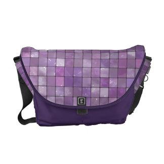 Variegated Amethyst Tile Pattern Courier Bag