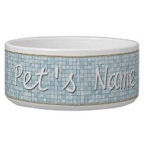 Variegated Aqua Tile Pattern Bowl