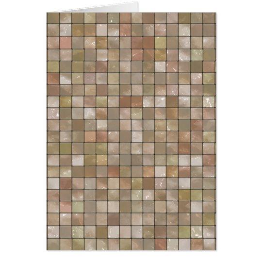 Variegated Beige Tile Pattern Card