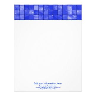 Variegated cobalt Blue Tile Pattern Letterhead