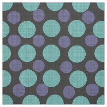 Variegated Colorful Blue Teal Tones Polka Dots Fabric