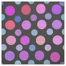 Variegated Colorful Pink Purple Tones Polka Dots Fabric