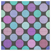 Variegated Colorful Purple Aqua Tones Polka Dots Fabric
