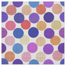 Variegated Colorful Purple Blue Tones Polka Dots Fabric