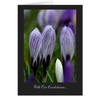 Variegated Crocuses - With Our Condolences Card