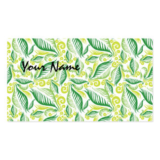 Variegated Green Ferns Double-Sided Standard Business Cards (Pack Of 100)