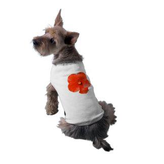 Variegated Hibiscus Dog Shirt