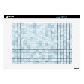 Variegated Pastel Aqua Tile Pattern Skin For Laptop