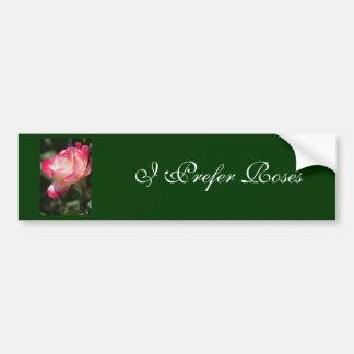 Variegated Rose Floral Gift Bumper Sticker