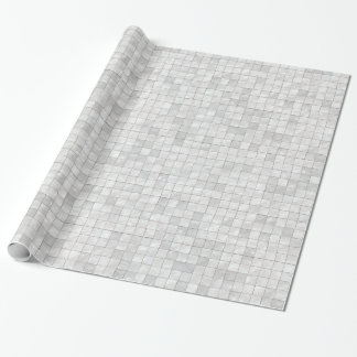 Variegated White Decorative Tile Pattern Wrapping Paper