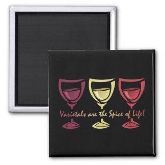 Varietals Wine 2 Inch Square Magnet