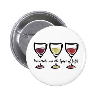 Varietals Wine Pinback Button