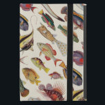 """Varieties of Fish iPad Mini Cover<br><div class=""""desc"""">A pattern created with vintage fish illustrations from a 1930's edition of The Children's Encyclopedia published by Arthur Mee.</div>"""