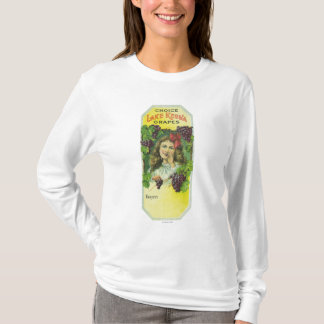 Variety Choice Lake Keuka Grapes Label T-Shirt