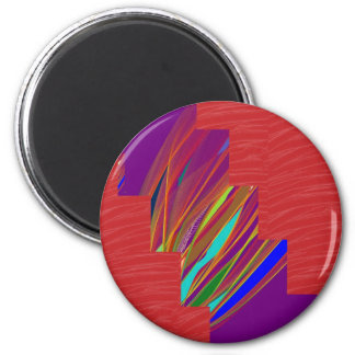 VARIETY of ART on GIFT : Silky RED + ABSTRCT FIRE Refrigerator Magnets