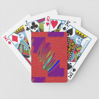 VARIETY of ART on GIFT : Silky RED + ABSTRCT FIRE Bicycle Poker Cards