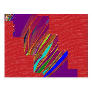 VARIETY of ART on GIFT : Silky RED + ABSTRCT FIRE Postcard