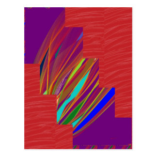 VARIETY of ART on GIFT : Silky RED + ABSTRCT FIRE Post Card